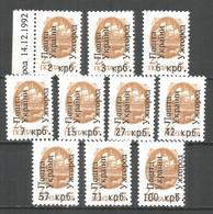Ukraine Uzhhorod Local Overprint 1992 Mint Stamps MNH(**) - Ukraine