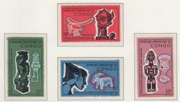 CONGO MNH** COB 613/16 ARTS NEGRES - Mint/hinged