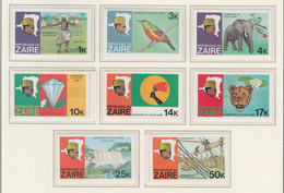 ZAIRE MNH** COB 967/74 EXPEDITION FLEUVE ZAÏRE - 1971-79: Mint/hinged