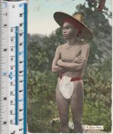 A SHAN MAN - MYANMAR - BURMA - ETHNIC DRESS - TATTOOED LEGS - Asia