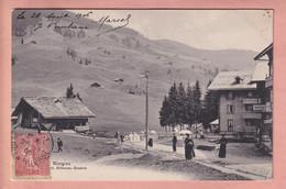 OUDE POSTKAART ZWITSERLAND - SUISSE -     MORGINS - VS Valais