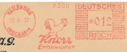 Freistempel Kleiner Ausschnitt 001 Knorr Erbswurst Lebensmittel Hahn - Affrancature Meccaniche Rosse (EMA)