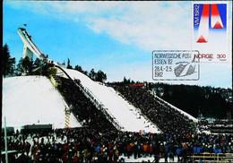 ► NORGE  OSLO Holmenkollen Spungschanze - Saut à Ski Jumping -  (Essen1982)  Carte Maximum Card - Ski