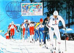►  Nordische Ski Weltmeisterschaften Oberstdorf / Allgäu - 1987 Cross Country Ski De Fond - - Carte Maximum Card - Ski