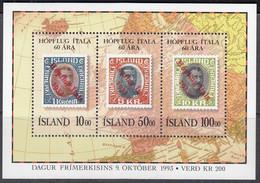ISLAND Block 14, Postfrisch *, Tag Der Briefmarke, 1993 - Blocks & Kleinbögen