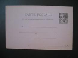 Entier Postal Carte Postale  Obock  Type Alphée Dubois  Sur  10c   Voir Scan - Lettres & Documents