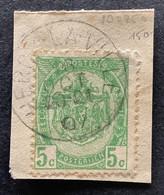Rijkswapen 83 - 5c Gestempeld EC HERCK-LA-VILLE - 1893-1907 Stemmi