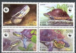 Laos Lao 2004 Yvertn° 1551-1554 Mi 1927-1930 *** MNH Faune WWF Tortues Schildpadden - Laos