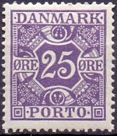 DENEMARKEN 1921-1930 25öre Portzegel Gladde Achtergrond PF-MNH - Postage Due