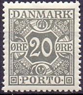 DENEMARKEN 1921-1930 20öre Portzegel Gladde Achtergrond PF-MNH - Postage Due