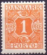 DENEMARKEN 1921-1930 1öre Portzegel Gladde Achtergrond PF-MNH - Postage Due