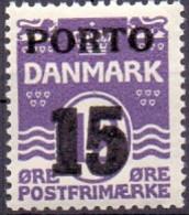 DENEMARKEN 1921 15öre Portzegel Golflijn PF-MNH - Postage Due