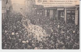 Mons Fêtes Carnavalesques Du 22 Mars 1914 Groupe De Paysans Et Paysannes Hollandais Rue De La Station - Mons