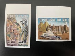 Mali 1994 Mi. 1325 - 1326A Non Dentelé IMPERF Année Internationale Du Tourisme Tourism Pyramids Egyp Sphinx 2 Val. MNH** - Mali (1959-...)