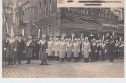 Mons Fêtes Carnavalesques Du 22 Mars 1914 Club Elisabeth Devant Brasserie De Bruxelles - Mons