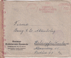 ALLEMAGNE 1942 LETTRE CENSUREE POUR HELSINGFORS  EMA DE GROSSALMERODE - Poststempel - Freistempel
