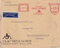 PAYS-BAS 1942 PLI AERIEN EMA DE AMERSFOORT AVEC DOUBLE CENSURE GERMANO-FINLANDAISE - Poststempel - Freistempel