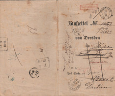 DOCUMENT 1863 ALLEMAND-ITALIEN-FRANCAIS  1863  TITRE DE TRANSPORT EN DOUANE  PEU COURANT - Unclassified