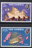 Gambia 1972 Model Boats Set Of 2, MNH, SG 296/7 (BA2) - Gambia (1965-...)