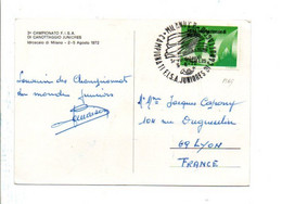 ITALIE CHAMPIONNAT F I S A JUNIORDE CANOTAGE 1972 MILAN - Marcophilie - EMA (Empreintes Machines)
