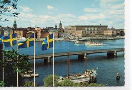 Stockholm Belle Vue De La Ville Bateaux - Sweden