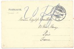 Moselle  (Guenange) CP (vieille Maison) Obl. OBERGINIGEN - Taxée 20 -  1902 - Elzas-Lotharingen