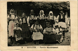 CPA AK MONASTIR BITOLA Famille Macedonienne MACEDONIA SERBIA (709342) - Macedonia