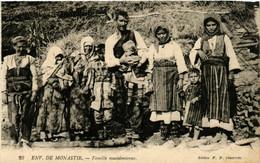 CPA AK MONASTIR BITOLA Famille Macedonienne MACEDONIA SERBIA (709346) - Macedonia