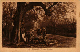 CPA AK Balkan Typen. Am Brunnen MACEDONIA SERBIA (709354) - Macedonia