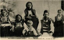CPA AK Famille Macedonienne Un Jour De Fete MACEDONIA SERBIA (709355) - Macedonia