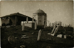 CPA AK Carte Photo Real SKOPJE USKUB Cemetery MACEDONIA SERBIA (709378) - Macedonia