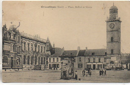 59 GRAVELINES  Place , Beffroi Et Mairie - Gravelines