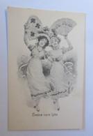 Frauen, Mode, Fächer,  1900   ♥ (74270)        - 1900-1949