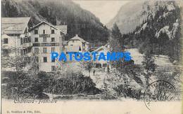 157454 FRANCE CHATELARD BORDER VIEW PARTIAL POSTAL POSTCARD - Argentina