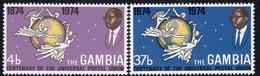 Gambia 1974 UPU Centenary Set Of 2, MNH, SG 318/9 (BA2) - Gambia (1965-...)