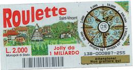 Gratta E Vinci - 1998 - ROULETTE - Saint Vincent - 28 - - Billetes De Lotería