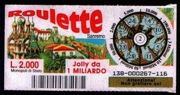 Gratta E Vinci - 1998 - ROULETTE - Sanremo - 2 - - Billetes De Lotería