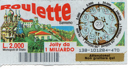 Gratta E Vinci - 1998 - ROULETTE - Sanremo - 23 - - Billetes De Lotería