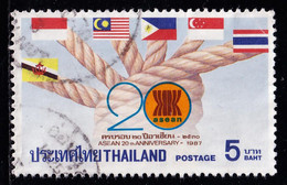 Thailand Stamp 1987 20th Anniversary Of ASEAN 5 Baht - Used - Thailand