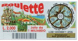 Gratta E Vinci - 1998 - ROULETTE - Sanremo - 32 - - Billetes De Lotería