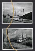 2 PHOTOS  TRAM 8 MONS BOUSSU DOUR ERQUENNES BORINAGE   REPRO - Tramways