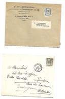 2 Pcs BRUXELLES 1909   Hand En Typo - Unclassified