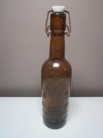 Ancienne Bouteille Publicitaire De BIERE - GANGLOFF - BESANCON Propriété De La Brasserie Haut 30 Cm Poids 953 Grammes - Beer