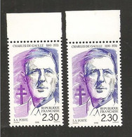 France, 2634, 2634a, Neuf **, TTB, De Gaulle, Centenaire De La Naissance Du Général De Gaulle - Unused Stamps