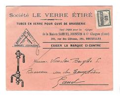 BRUXELLES 1909   Typo  Publicit. Tubes En Verre Pour Cuve De Brasserie - Unclassified