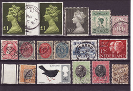 4177) GB Netherlands Ireland World Collection - Lots & Kiloware (mixtures) - Max. 999 Stamps