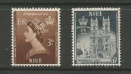 Niue - 1953 Coronation MH *    SG 123-4  Sc 104-5 - Niue