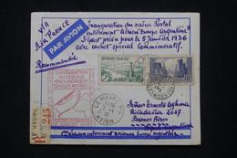 FRANCE - Enveloppe En Recommandé Du Havre Pour L'Argentine Par 1er Vol Europe / Argentine En 1936 - L 94630 - Air Post