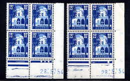 ALGÉRIE YT-N°: 314 - PALAIS DU BARDO, Coin Daté Du 28.05.1954, Galvano A+B, 1er Tirage, NSC/**/MNH - Ungebraucht