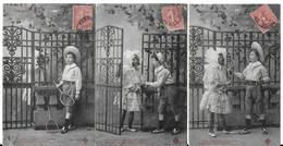GENTILS VOISINS (genre Bergeret, éditins CCCC) (série De 5 Cartes) (2 Scans) - Scenes & Landscapes
